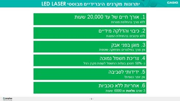 casio laser led projector advantige
